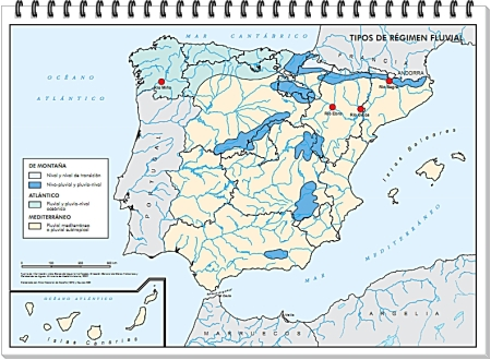 Mapa Tipos de Régimen Fluvial